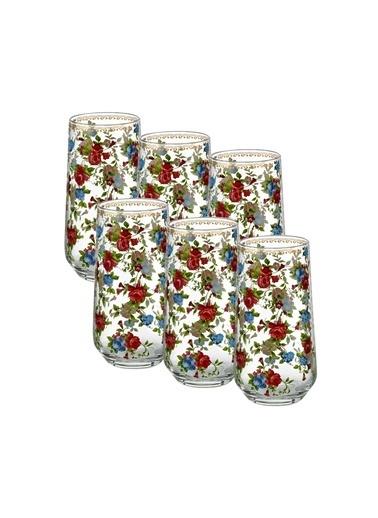 Goldmaster Rose Garden 6'Lı Meşrubat Bardağı Renkli